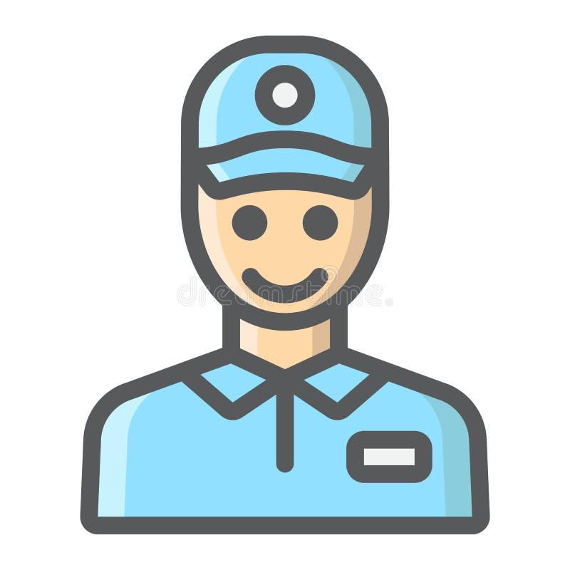 送货人被填装的概述象,交付, 库存例证