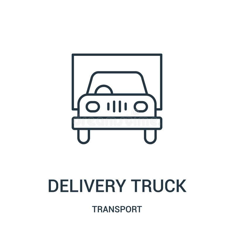 送货卡车从运输汇集的象传染媒介 稀薄的线送货卡车概述象传染媒介例证 皇族释放例证