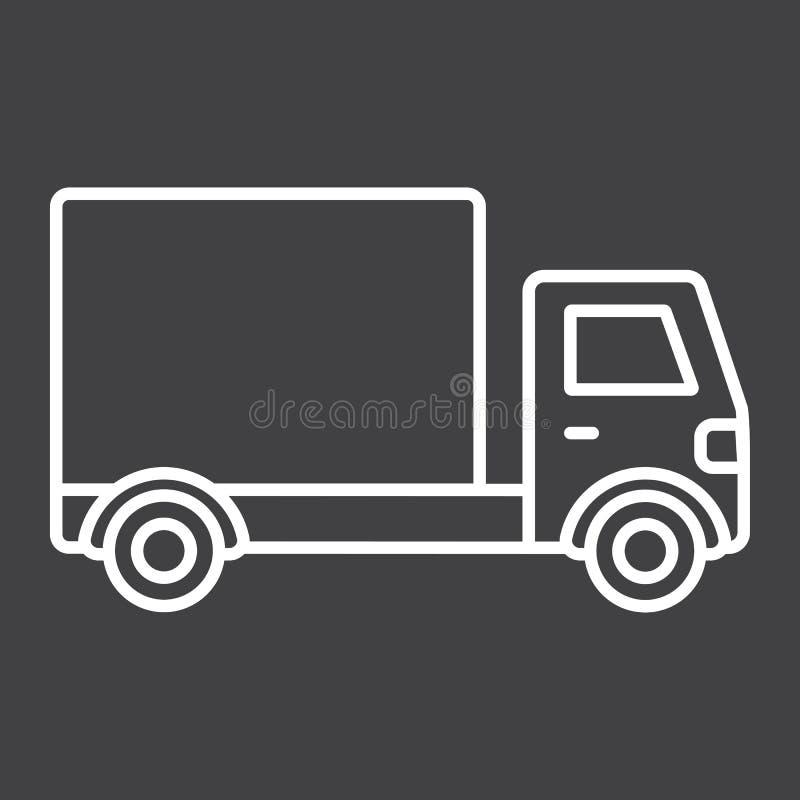 送货卡车线象、运输和车 皇族释放例证