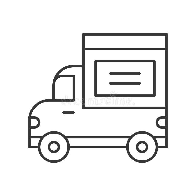 送货卡车象、线设计传染媒介运输和后勤co 皇族释放例证