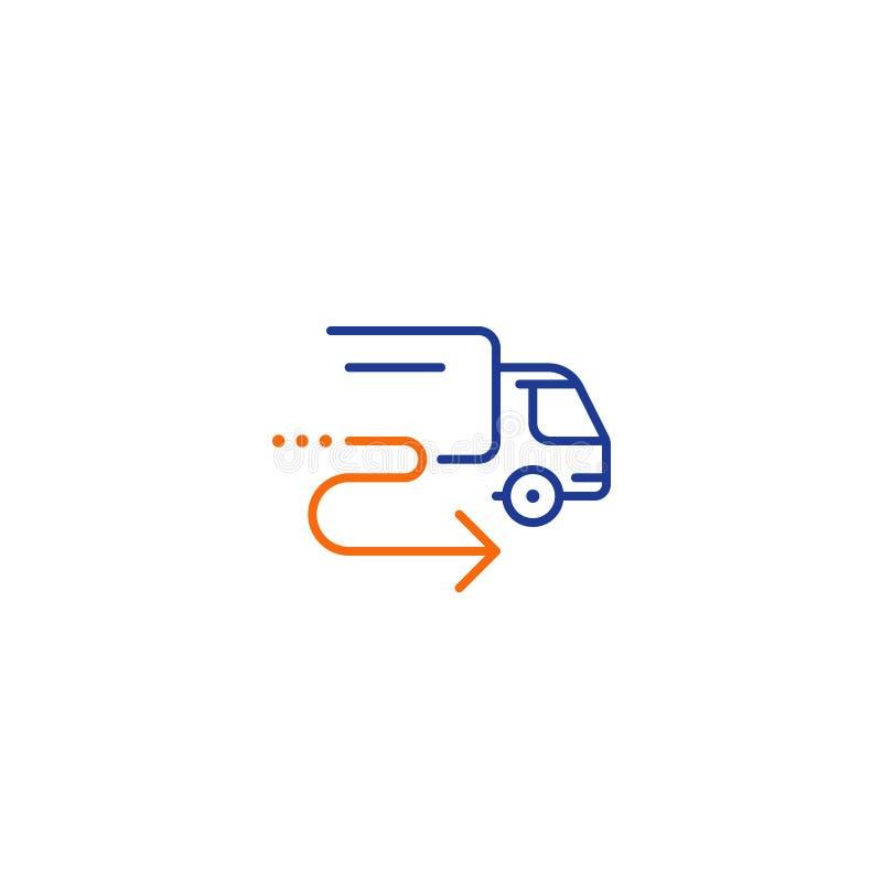送货卡车象,命令运输,分配服务,拆迁概念 库存例证