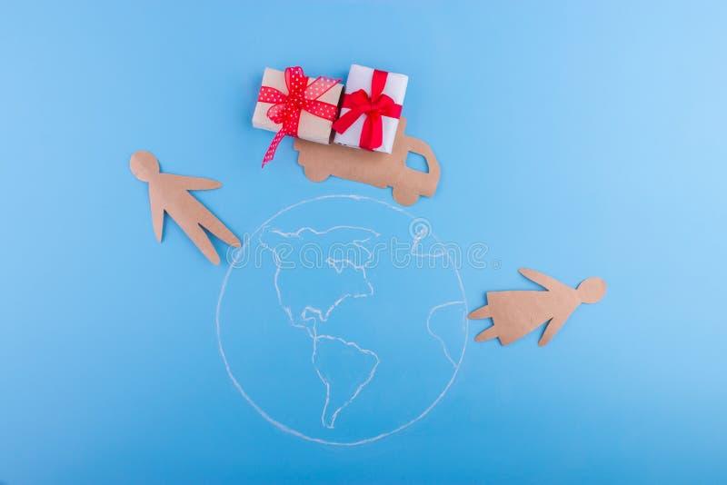 送货服务在世界上 皇族释放例证
