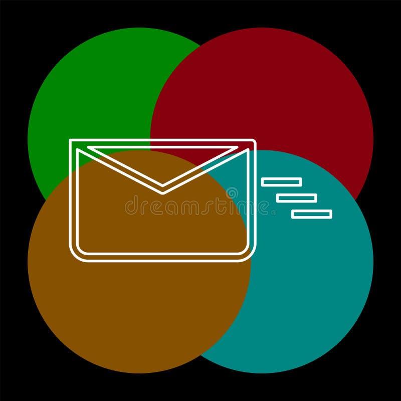 送邮件或消息象,信封 皇族释放例证