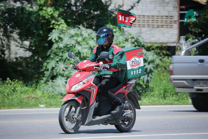 送货业务人乘驾Motercycle 免版税库存图片