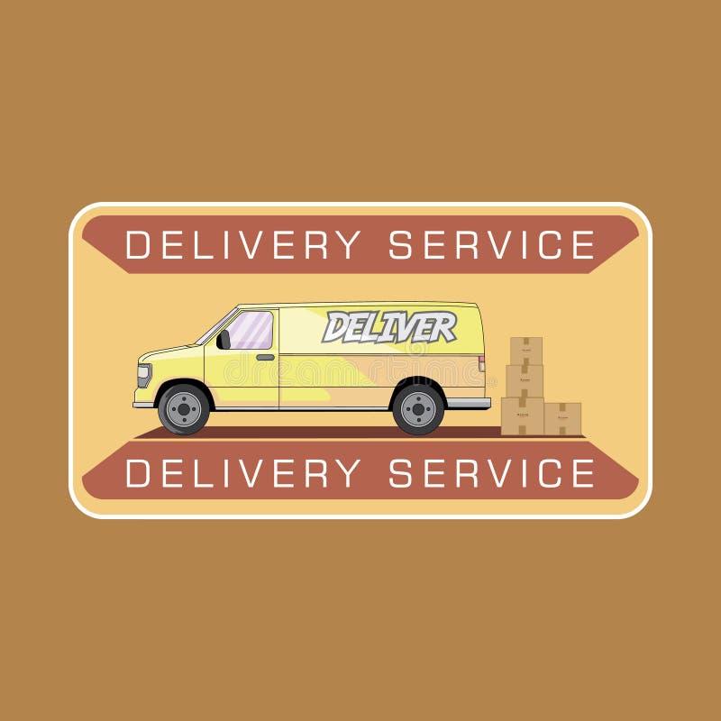 送货业务搬运车 向量例证