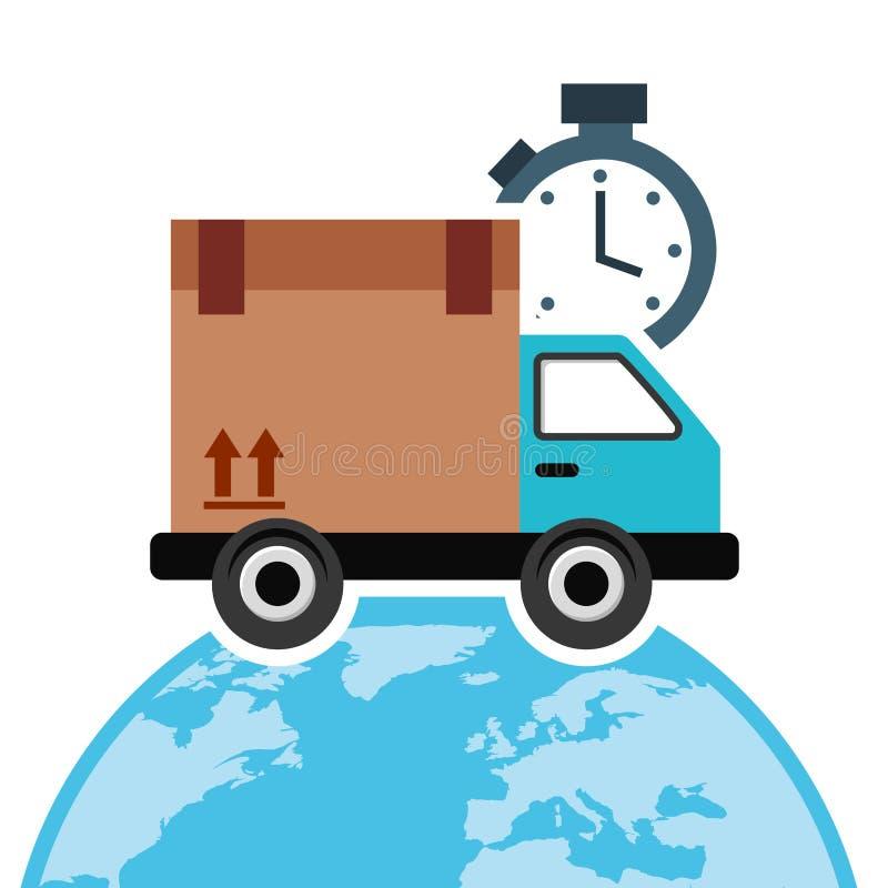 送货业务设计 皇族释放例证