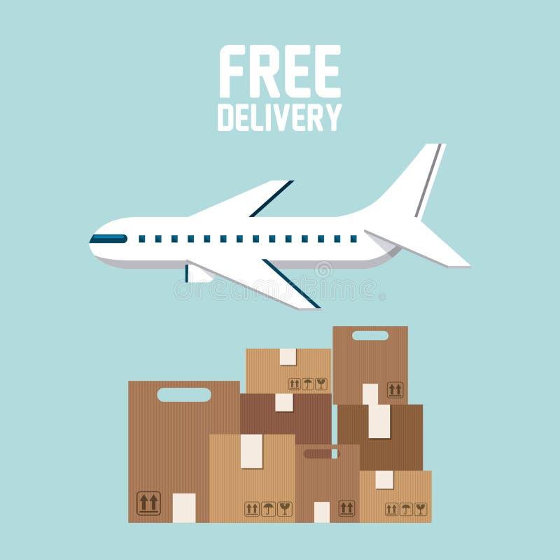 送货业务设计 向量例证