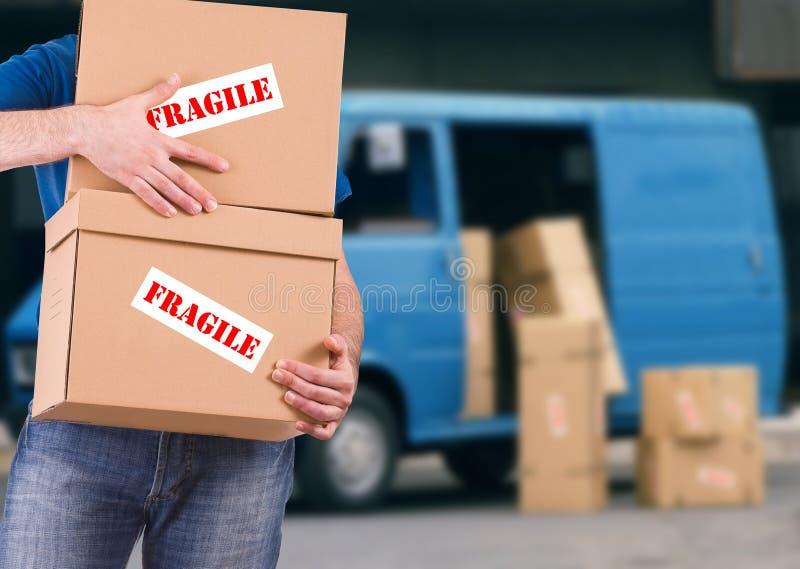送货人。 库存图片