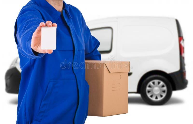 送货人。 图库摄影