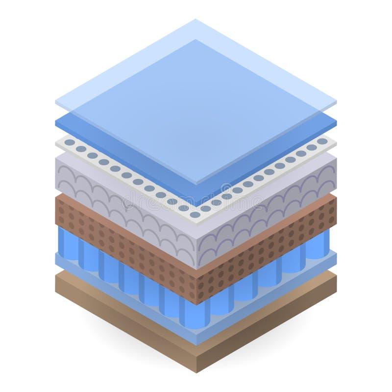 适于吸入的沙发层数象,等量样式 库存例证