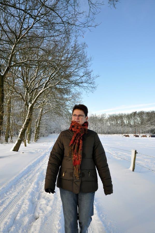 适合的保持的期间高级雪冬天 库存照片