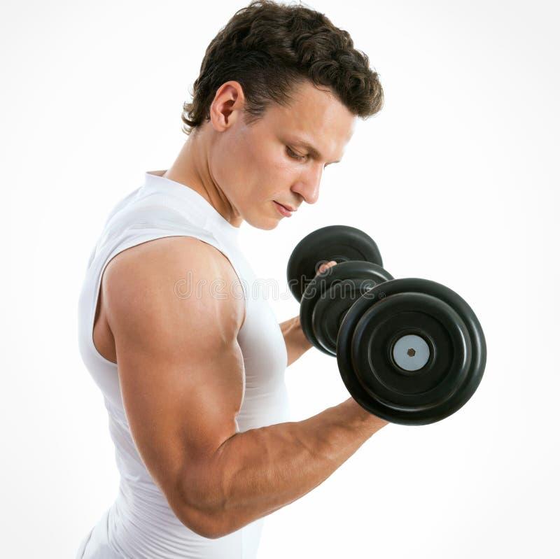 适合的肌肉人 免版税库存照片