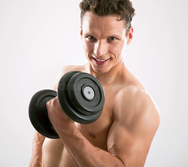 适合的肌肉人 库存图片