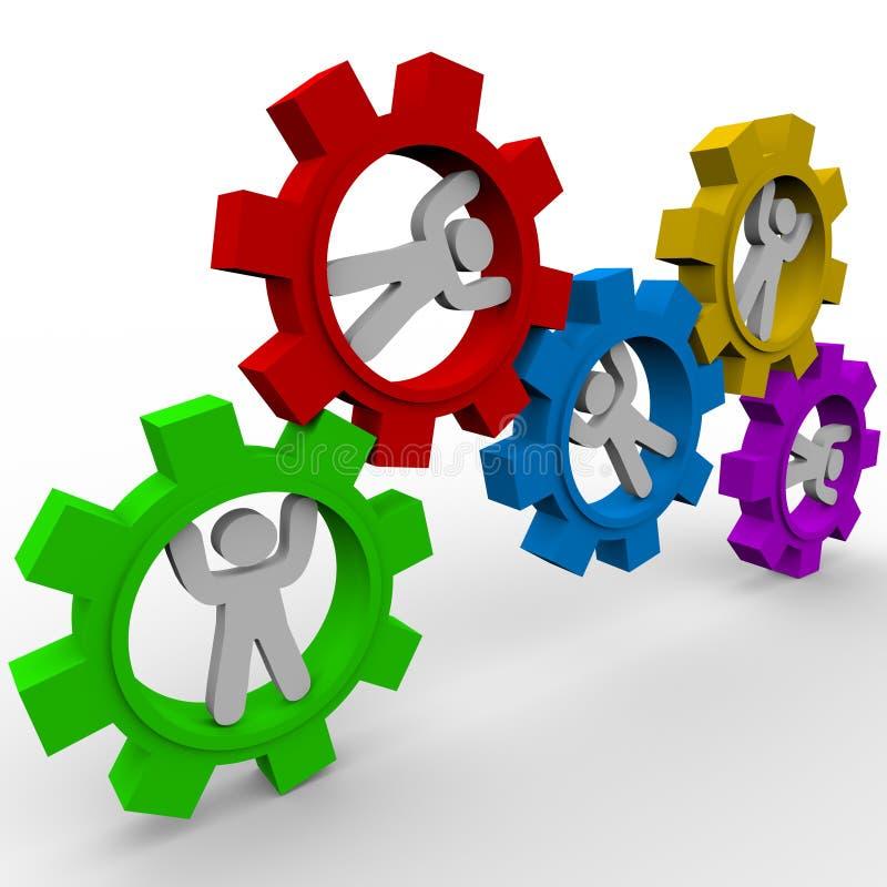 适应人共同作用启用 向量例证