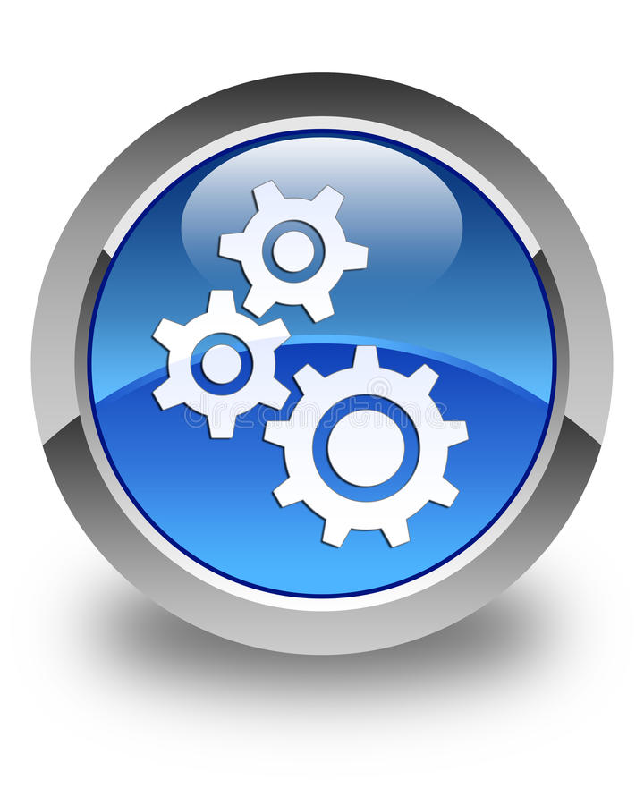 适应象光滑的蓝色圆的按钮 向量例证