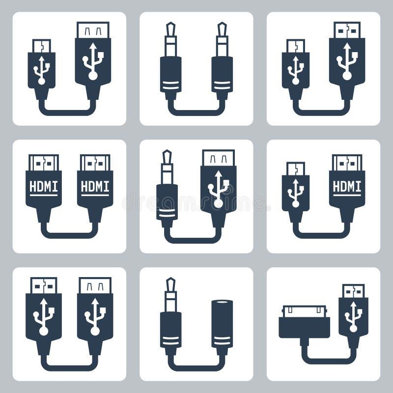 适配器连接器传染媒介象 皇族释放例证
