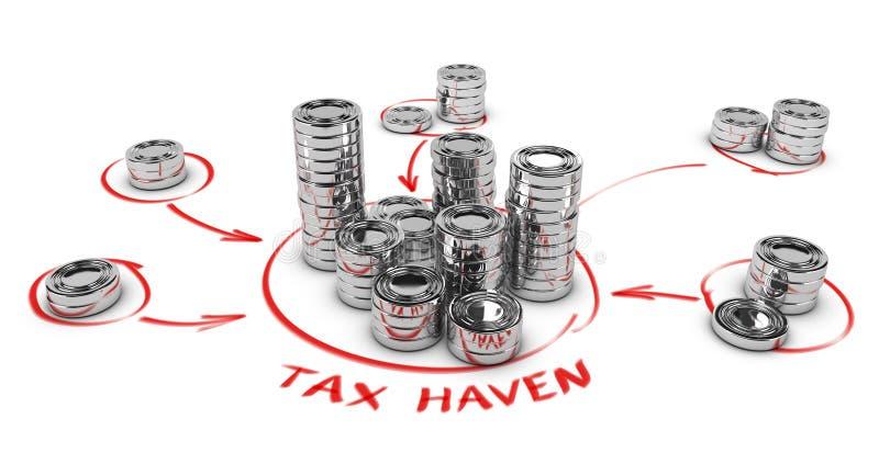 逃税概念 向量例证