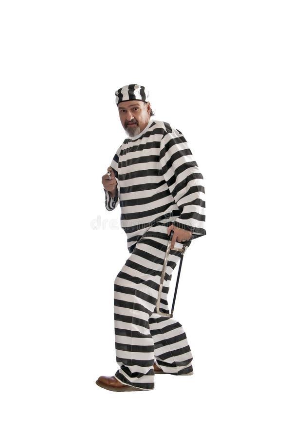 逃脱的枪引形钢锯囚犯 免版税库存照片