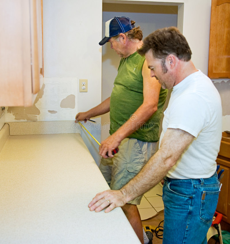 逆安装的厨房评定 免版税库存图片