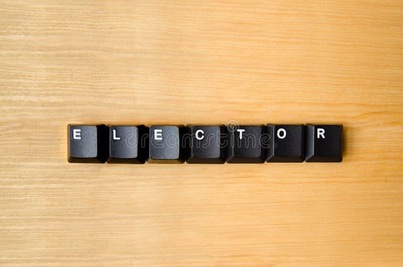 选举人词 免版税库存照片
