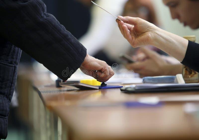 总统选举在罗马尼亚 图库摄影