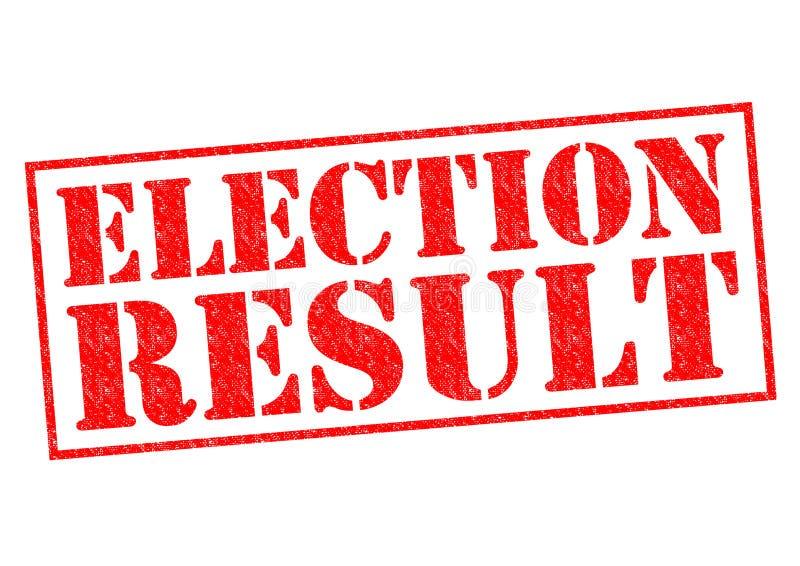 选举结果 免版税图库摄影