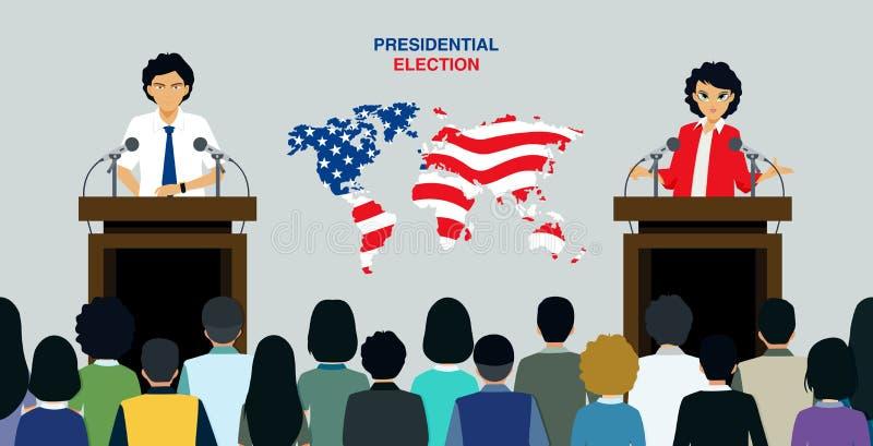 总统选举 向量例证