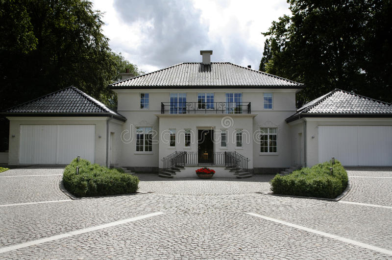选件类丹麦上面的别墅 库存图片