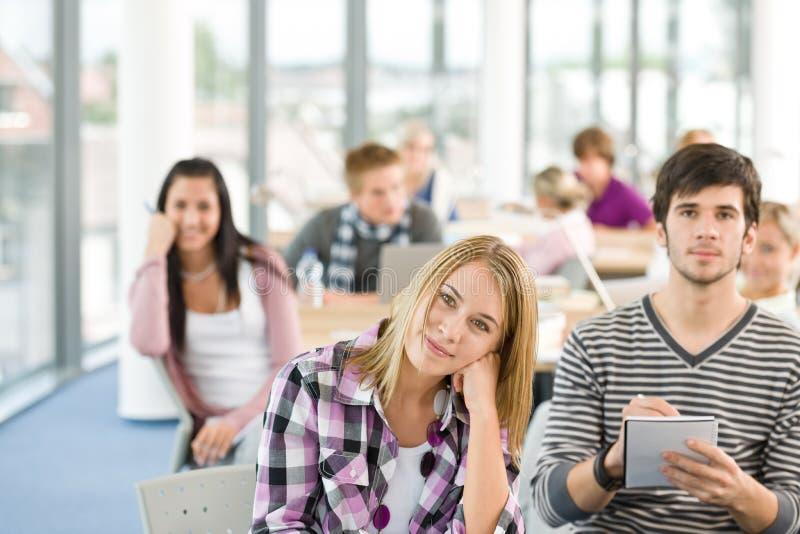 选件类教室高中学员 库存图片