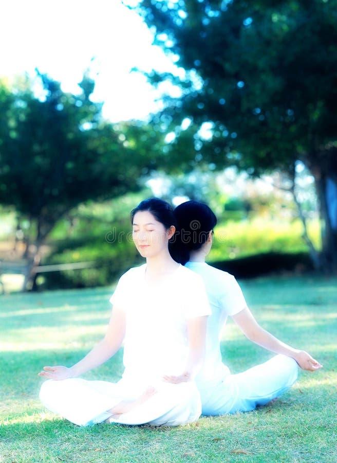 选件类瑜伽 免版税库存照片
