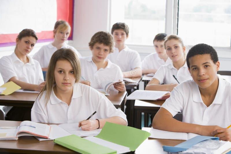 选件类高中学员 免版税图库摄影