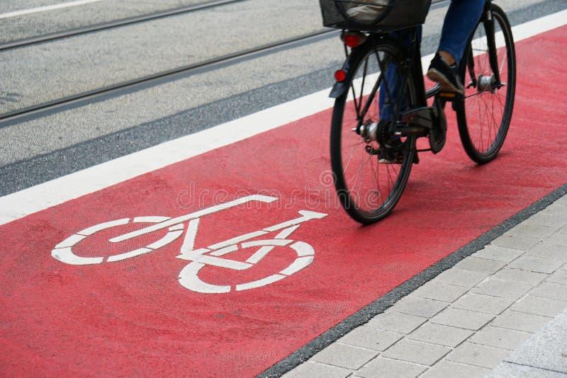 选定的自行车车道或周期高速公路 免版税库存图片