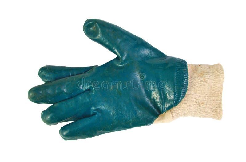 选拔在白色隔绝的使用的从事园艺的手套 图库摄影