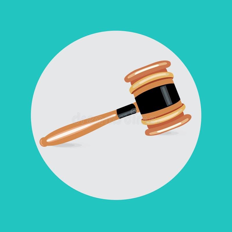选拔法官惊堂木平的设计传染媒介 向量例证