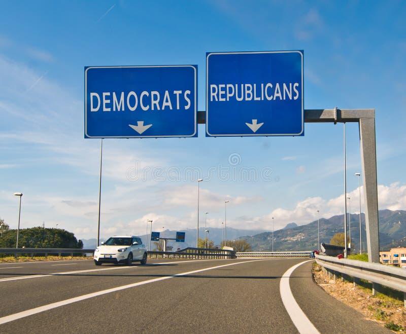 选择、共和党人或者民主党的片刻 库存图片