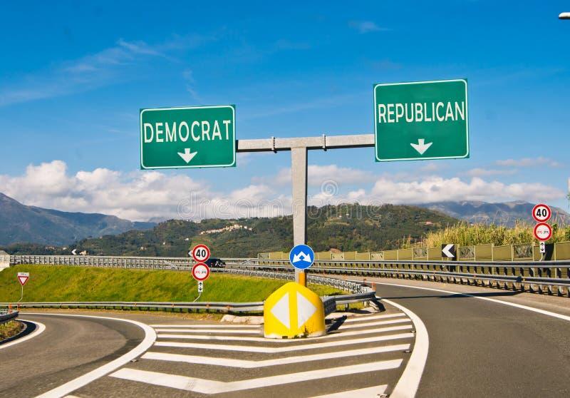 选择、共和党人或者民主党的片刻 免版税库存照片