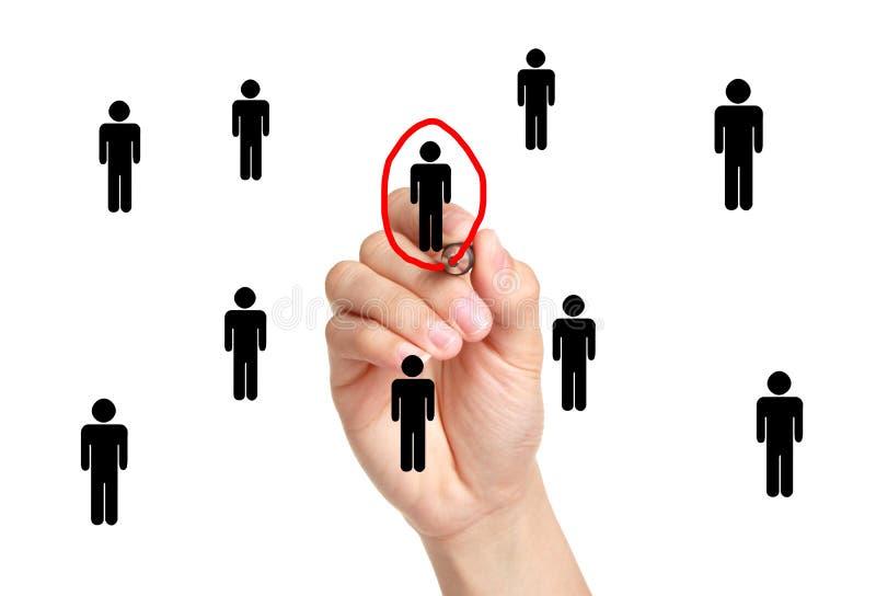 选择人表决或就业 图库摄影