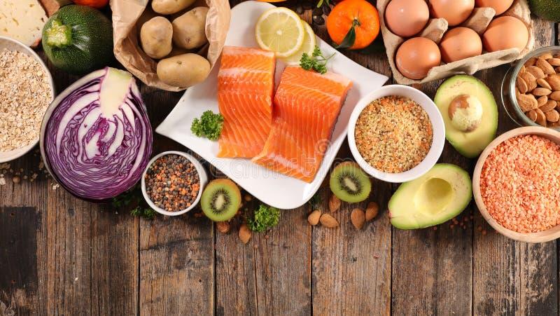 选择健康食品 免版税库存照片