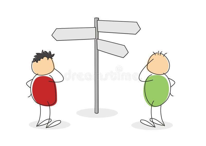 选择和机会的概念 库存例证