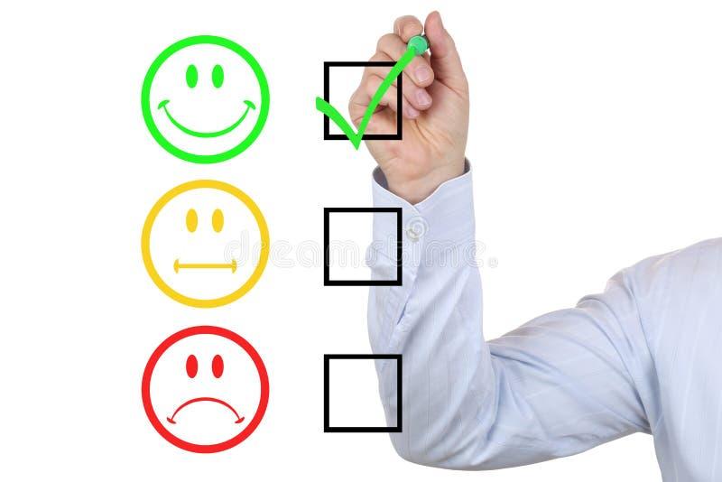 选择好服务质量的商人 免版税库存照片