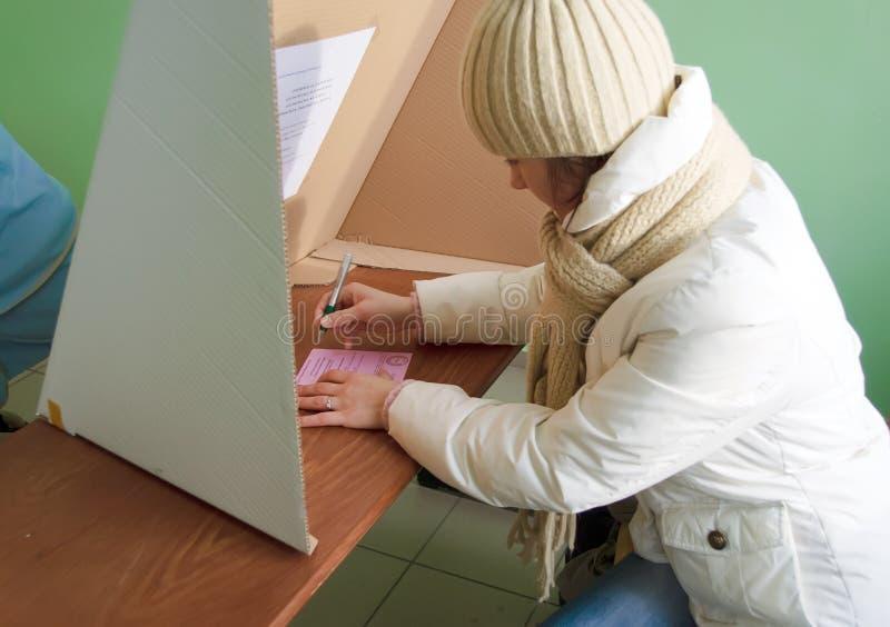 选择局部波兰来回第二投票 免版税库存图片