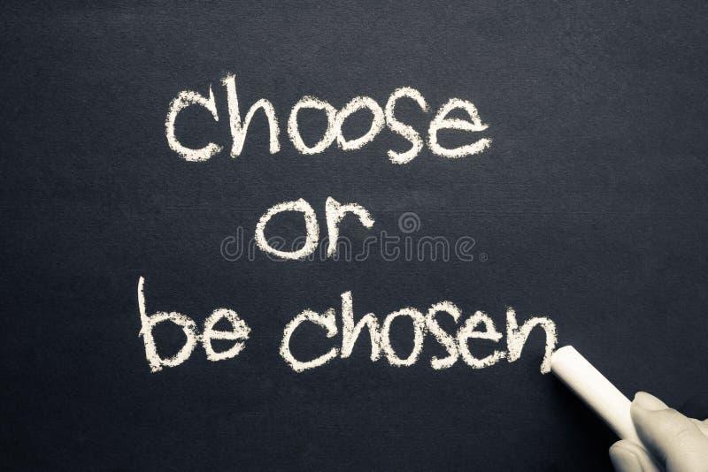 选择或被选择 免版税库存照片