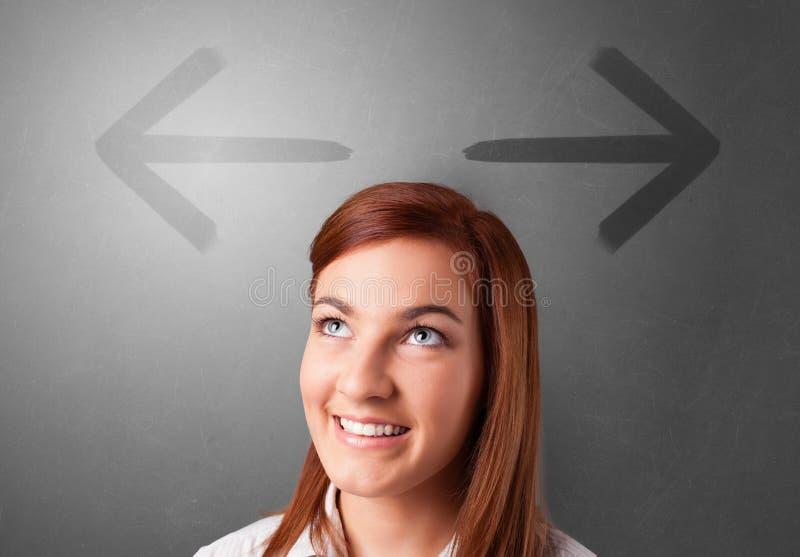 选择方向的企业人 免版税图库摄影
