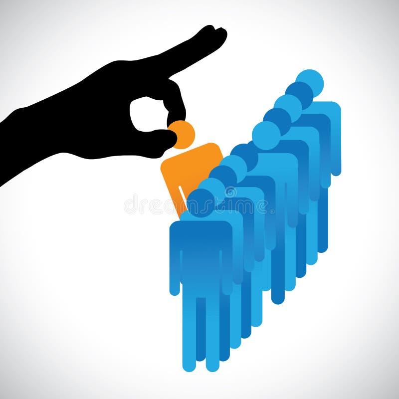 选择最佳的员工的例证 向量例证