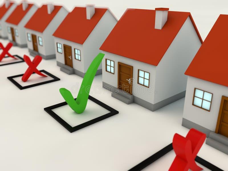 选择最佳的家的核对清单概念 皇族释放例证