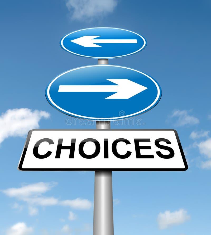 选择概念。 皇族释放例证