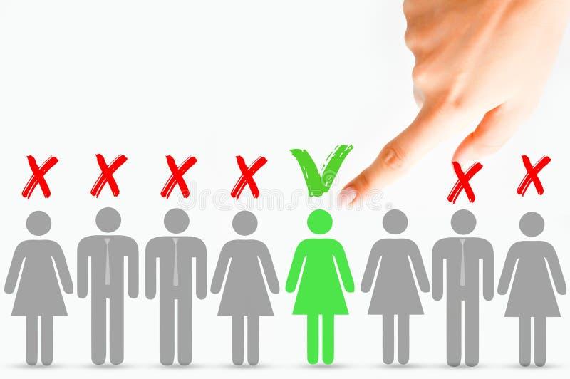 选择正确的候选人概念 图库摄影