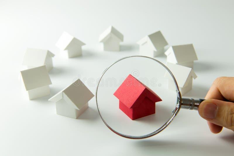 选择正确的房子 免版税库存照片