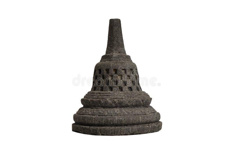 选择聚焦婆罗浮屠从印度尼西亚的寺庙纪念品 免版税库存照片