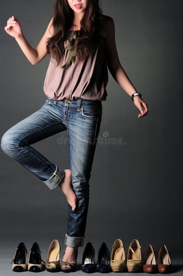 选择鞋子妇女 免版税库存图片